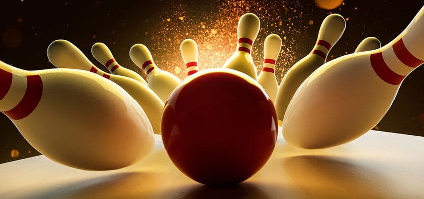 Bowling Exkursion mit befreundeten Französisch Studenten in Frankreich